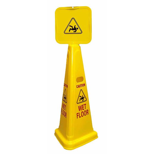 3-sided wet floor sign