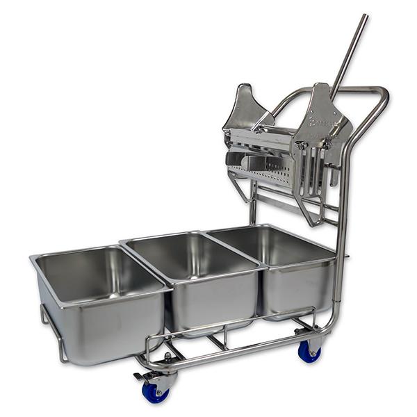 3-bucket trolley